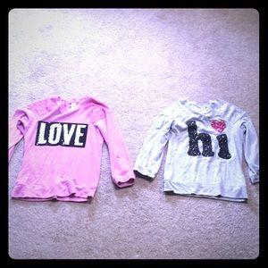 (3/$15) 2 total girl sweat shirts